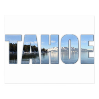 Lake Tahoe Text Postcard