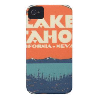 Lake Tahoe Vintage Travel Decal Design iPhone 4 Case-Mate Case