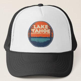 Lake Tahoe Vintage Travel Decal Design Trucker Hat