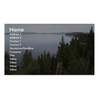 Lake Tahoe With Pine Trees Business Cards