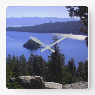 Lake Tahoe's Emerald Bay Square Wall Clock