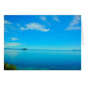 Lake Taupo, New Zealand blank card