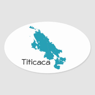 Lake Titicaca Oval Sticker
