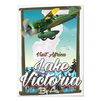 Lake Victoria African vacation poster Card