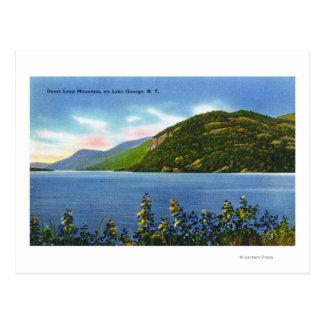 Lake View of Deers Leap Mountain Postcard