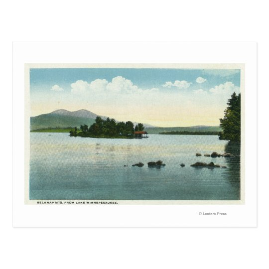 Lake View of the Belknap Mountains Postcard