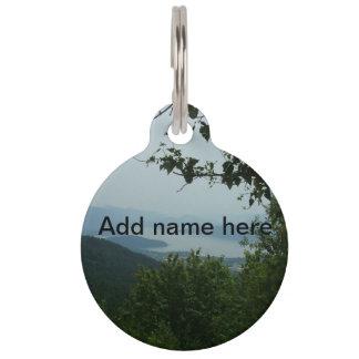 Lake View Pet Name Tag