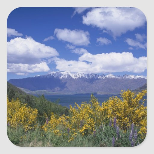 Lake Wakatipu and the Remarkables, Queenstown, Square Sticker
