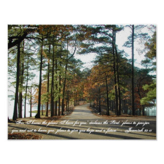 Lake Walk—Jeremiah 29:11 Poster