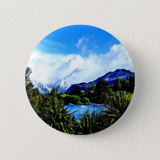 lake wanaka peaceful paradise 6 cm round badge