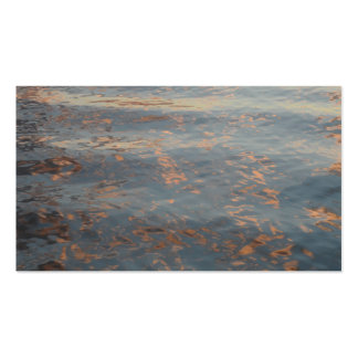 Lake Water Sunset Business Cards