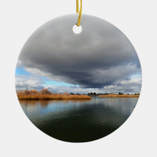 Lake Wendouree in Winter Ceramic Ornament