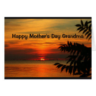 Lake Winnebago Sunset Happy Mother's Day Grandma Card