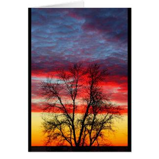 Lake Winnebago Sunset Resembling American Flag Card
