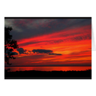 Lake Winnebago Sunset Thank You Card