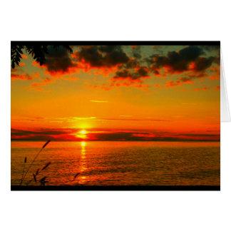 Lake Winnebago Sunset Thank You Greeting Card