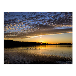Lake Winnemaug Sunrise Postcard