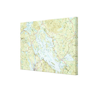 Lake Winnipesaukee Map (1986) Canvas Print
