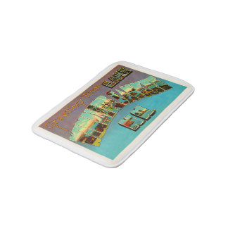 Lake Winnipesaukee New Hampshire Travel Souvenir Bath Mats
