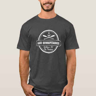 Lake Winnipesaukee NH custom town, name, anchor T-Shirt
