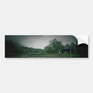 Lake with shadow card bumper sticker
