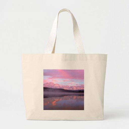Lake Wonder Denali Denali Park Alaska Canvas Bags