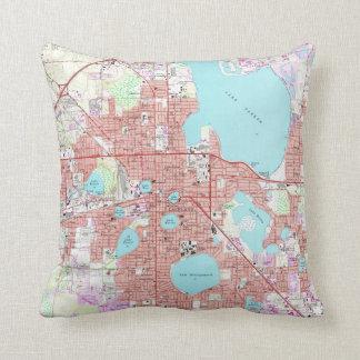 Lakeland Florida Map (1975) Cushion