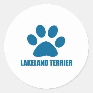LAKELAND TERRIER DOG DESIGNS CLASSIC ROUND STICKER