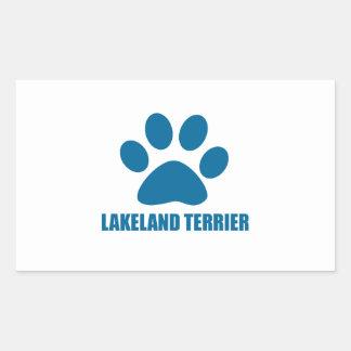 LAKELAND TERRIER DOG DESIGNS RECTANGULAR STICKER