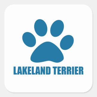 LAKELAND TERRIER DOG DESIGNS SQUARE STICKER