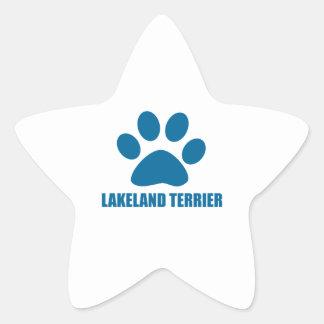 LAKELAND TERRIER DOG DESIGNS STAR STICKER