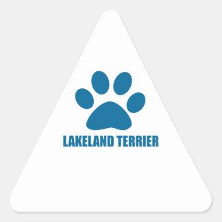 LAKELAND TERRIER DOG DESIGNS TRIANGLE STICKER