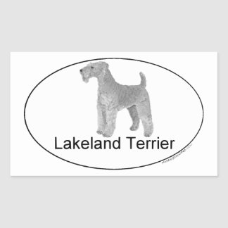 Lakeland Terrier Euro-Type Rectangular Sticker