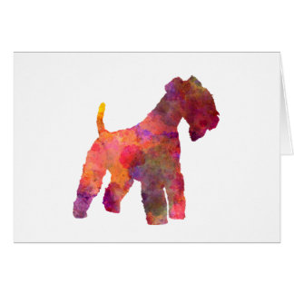 Lakeland Terrier in watercolor Card