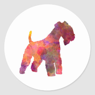 Lakeland Terrier in watercolor Classic Round Sticker