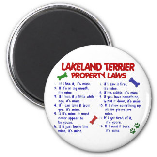 LAKELAND TERRIER Property Laws 2 6 Cm Round Magnet
