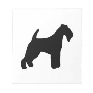 lakeland terrier silhouette notepad