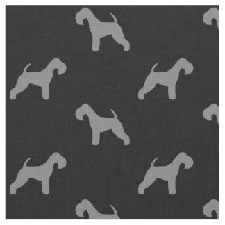Lakeland Terrier Silhouettes Pattern Fabric