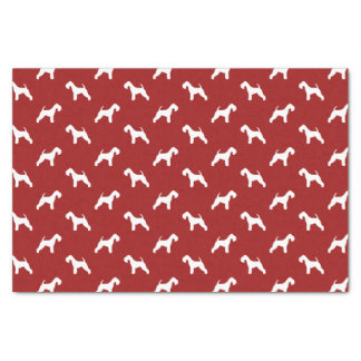 Lakeland Terrier Silhouettes Pattern Red Tissue Paper