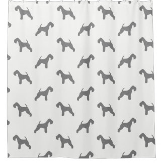 Lakeland Terrier Silhouettes Pattern Shower Curtain