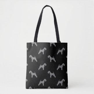 Lakeland Terrier Silhouettes Pattern Tote Bag