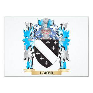 Laker Coat of Arms - Family Crest Personalized Invite