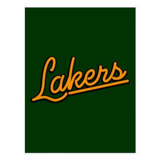 Lakers in orange postcard