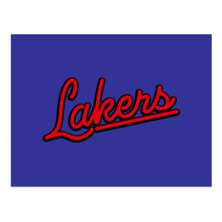 Lakers in red postcard