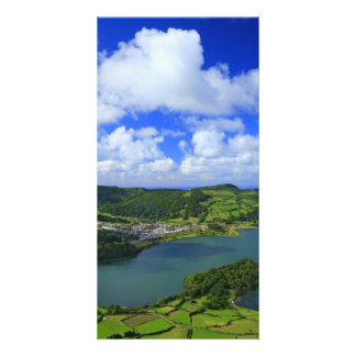Lakes in the Azores Customised Photo Card