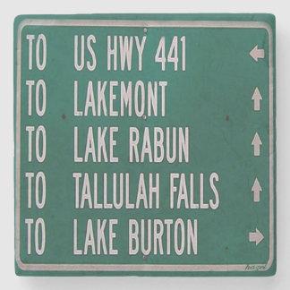 Lakes Sign Ga Coaster