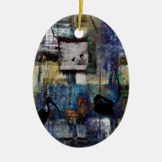 Lakeshore at Dawn Ceramic Ornament