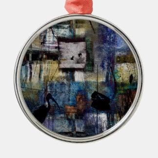 Lakeshore at Dawn Metal Ornament