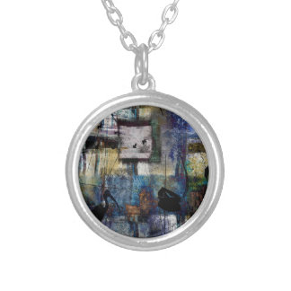 Lakeshore at Dawn Silver Plated Necklace