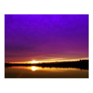 Lakeshore Sunset Postcard